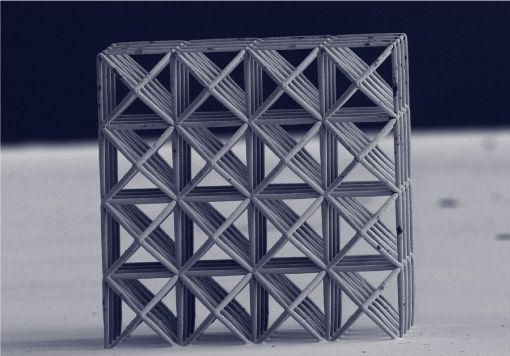 3D printed microscale metal lattice for fundamental research