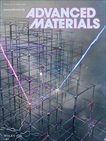 Advanced Materials 2017 journal front cover featuring Exaddon research